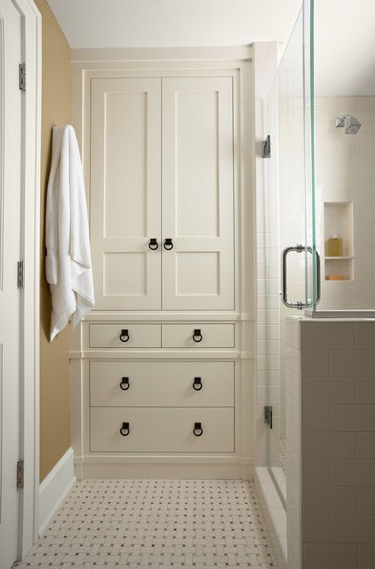 15 Traditional Tall Bathroom Cabinets Design Like the built in .