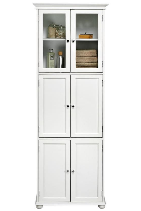 Hampton Bay 6-Door Tall Cabinet - Linen Cabinets - Bathroom .