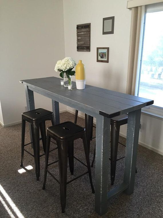 Rustic Bar Height Table by ReimaginedWoodcraft on Etsy | Small .
