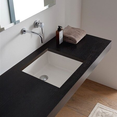 Scarabeo by Nameeks Miky Ceramic Square Undermount Bathroom Sink .