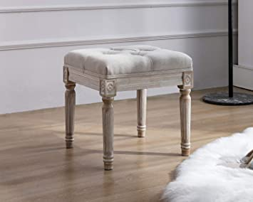 Amazon.com: Kmax Small Padded Bench, Square Upholstered Rustic .