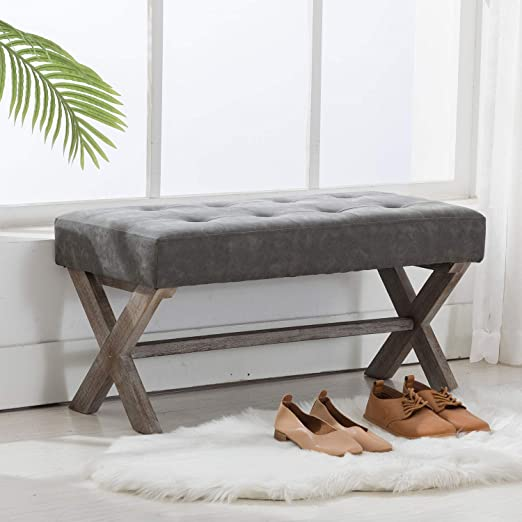 Amazon.com: chairus PU Leather Upholstered Entryway Bench, 36 inch .