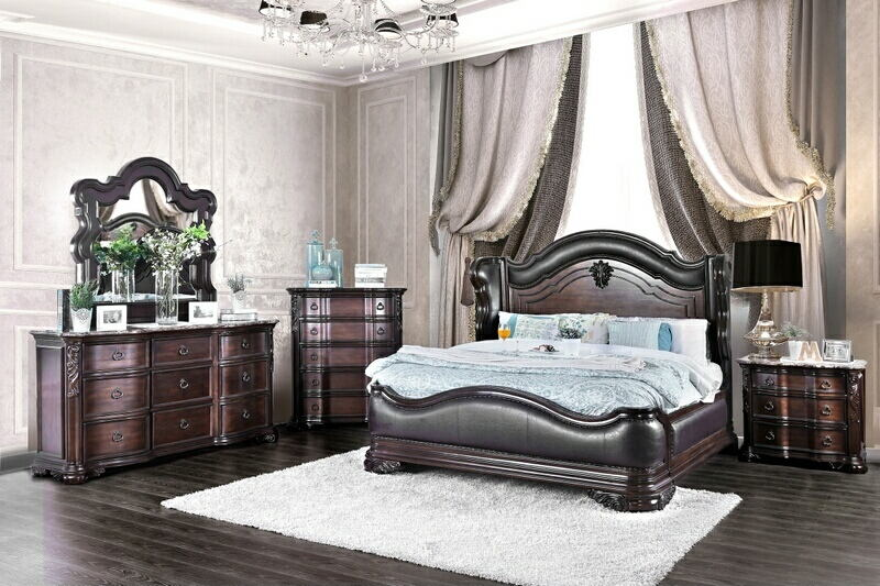 CM7859-5pc 5 pc Arcturus collection brown cherry finish wood .
