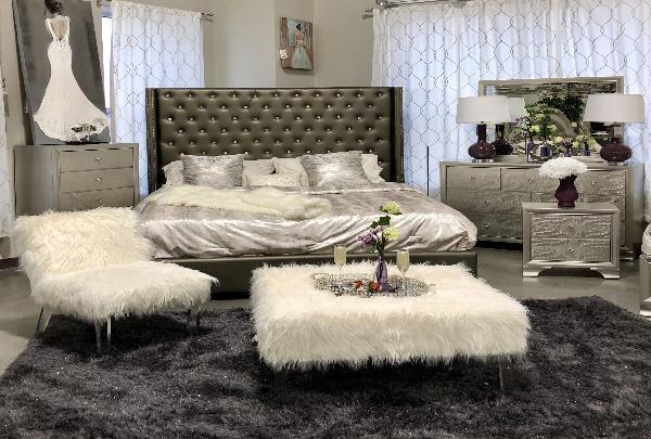 Coralyssa Upholstered Queen Bedroom set – Katy Furnitu