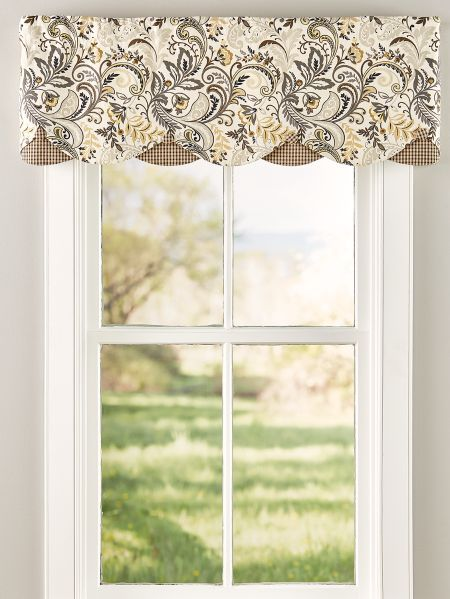 Emerson Rod Pocket Layered Valance | Valances for living room .