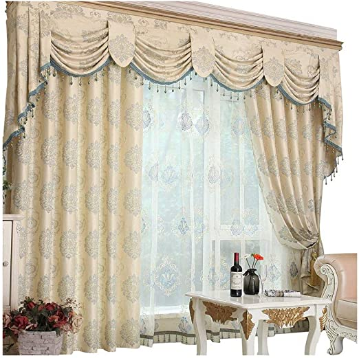 Amazon.com: Queen's House Romantic Living Room Curtains with .
