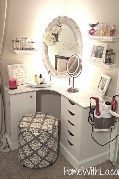 15 Super Cool Vanity Ideas For Small Bedrooms | Small room design .