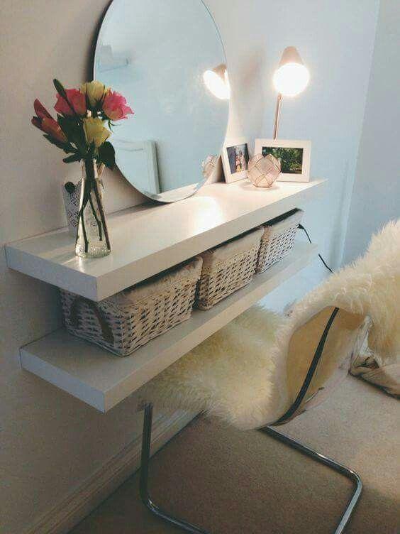 Small space vanity … | Bedroom decor, Home, Interi