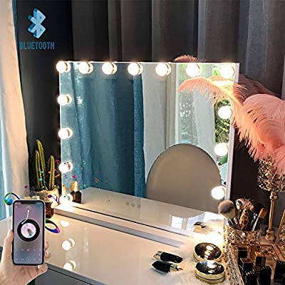 Amazon.com : FENCHILIN Large Vanity Mirror with Lights and .