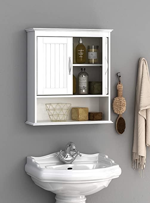 Amazon.com: Spirich Home Bathroom Cabinet Wall Mounted with Doors .