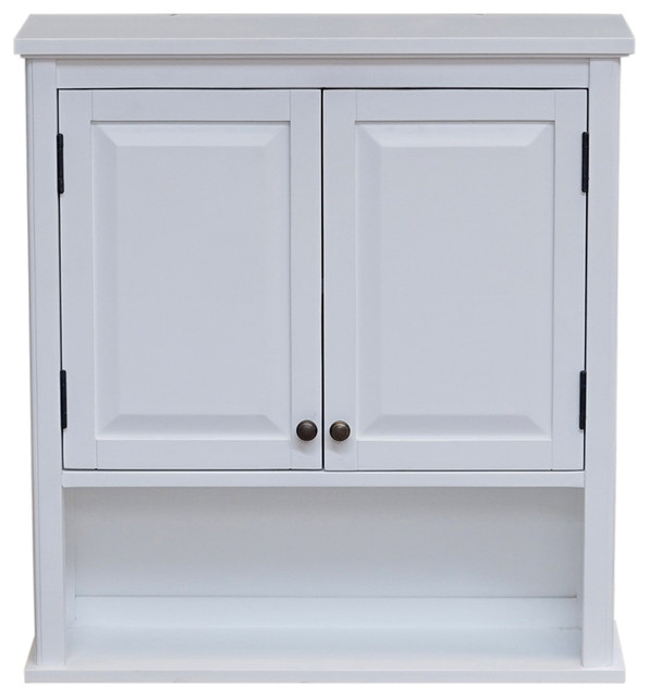 """Dorset 27""""x29"""" Wall Mounted Bath Storage Cabinet With Two Doors ."""