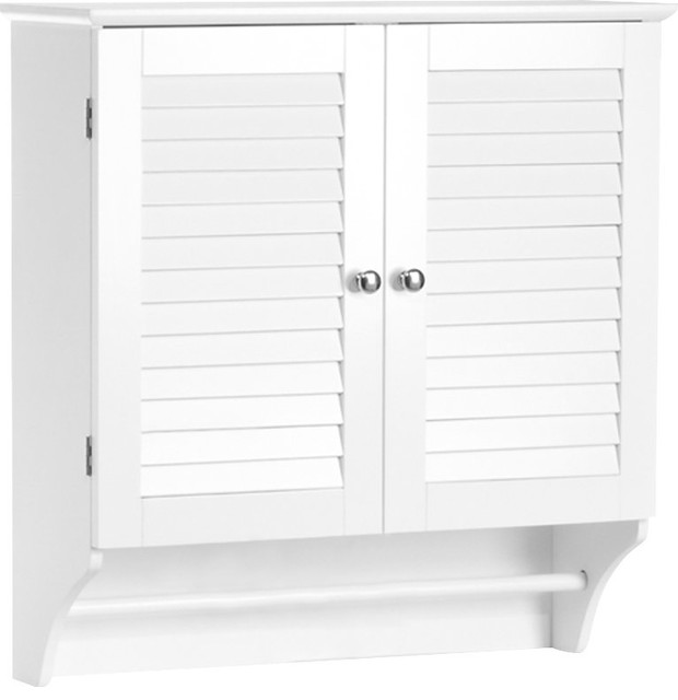Double Door Wall Mounted Bathroom Cabinet With Storage .