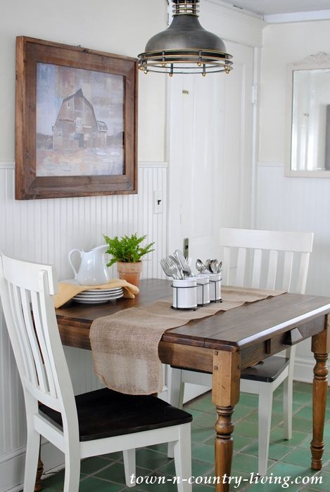 Farmhouse Table for a Breakfast Nook - Town & Country Living .