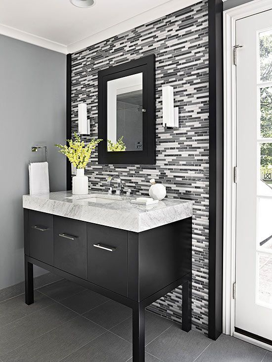 Single Vanity Design Ideas | Modern bathroom cabinets, Diy .