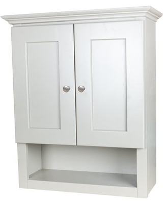 Amazing Deals on White Shaker Bathroom Wall Cabinet with 2 shelv