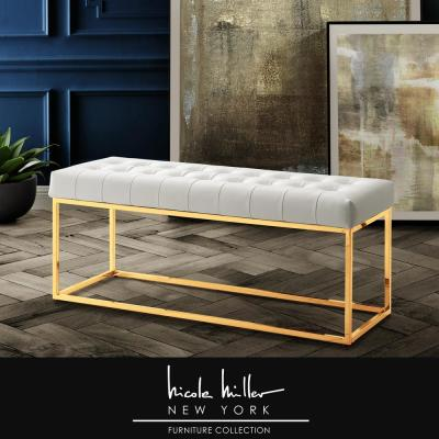 Modern - Ottoman - White - Bedroom Benches - Bedroom Furniture .