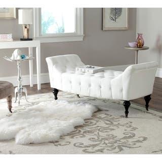 """Shop Safavieh En Vogue Georgette White Bench - 57.1"""" x 23.2"""" x ."""