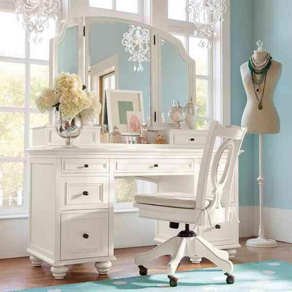 White Bedroom Vanity Set | White bedroom set, Girls bedroom .