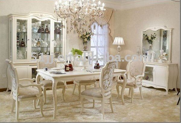 White Provincial Dining Set | White dining room furniture, Dining .