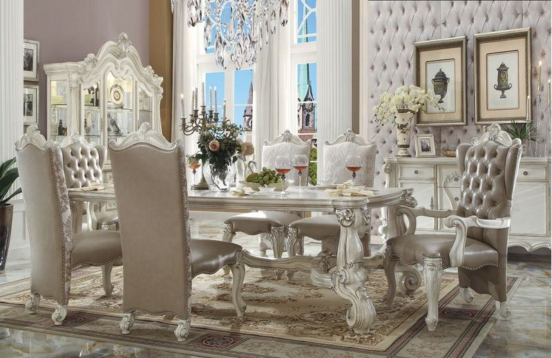 192568 Lucca Formal Dining Room Set in Whi