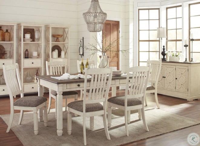 Bolanburg White and Gray Rectangular Dining Room Set from Ashley .