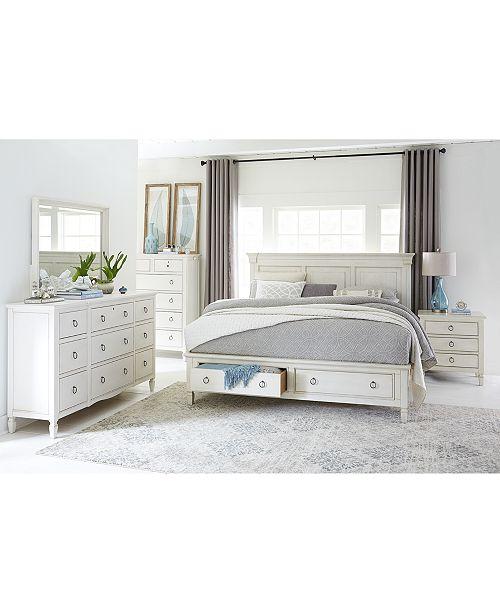 Furniture Sag Harbor White Bedroom Furniture Collection, 3 Piece .