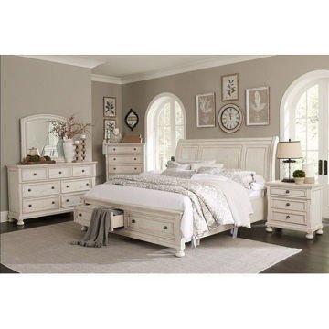 MB213 Antique White King Master Bedroom S