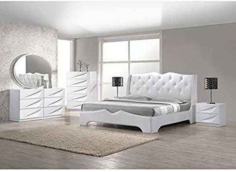 Amazon.com: Best Master Furniture 5 Pcs Modern Lacquer Bedroom Set .