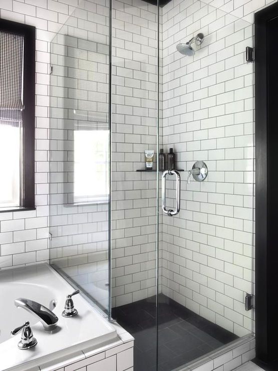 Black and White Shower Tiles - Contemporary - bathroom - HGTV .