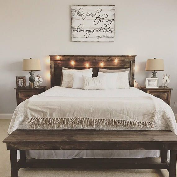 Rustic wooden bench entry bench foot of the bed bench | Farmhouse .