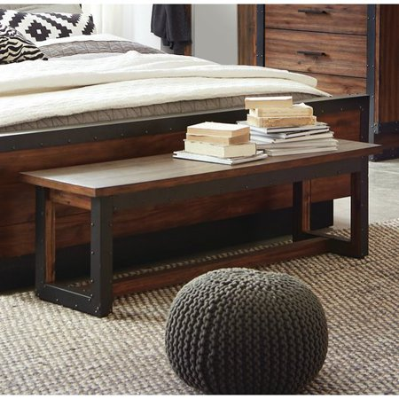 Scott Living Ellison Wood Bedroom Bench - Walmart.com - Walmart.c