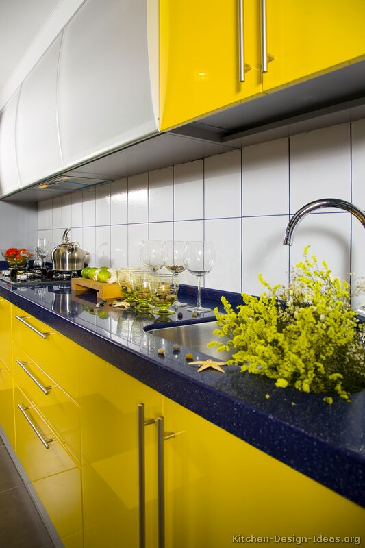 Pictures of Modern Yellow Kitchens - Gallery & Design Ide