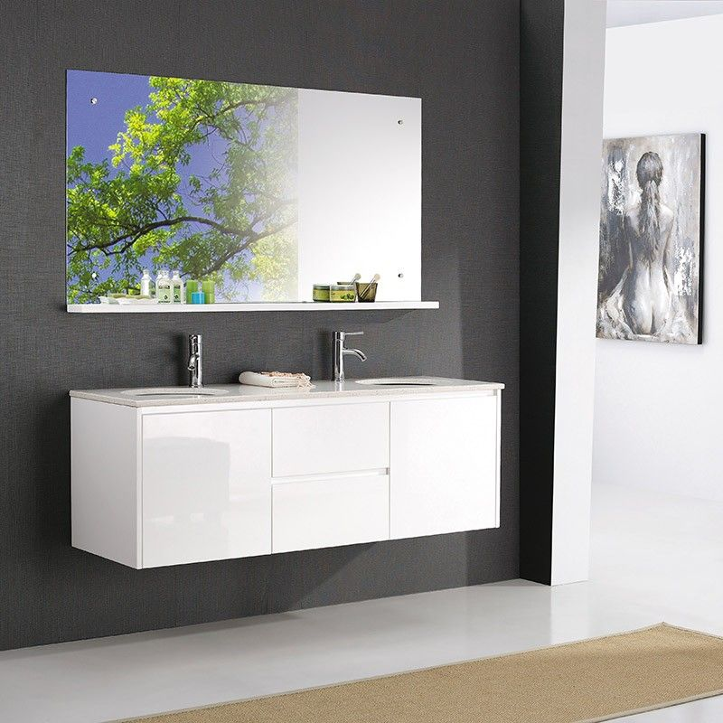 Contemporary White Bathroom Vanity